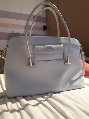 Shoulder Bag light grey-silver-colored leather