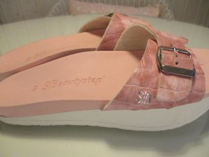 Sandalias cómodas rosa-blanco Fibra sintética