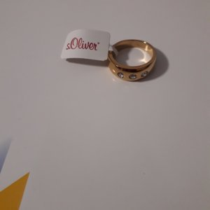 s.Oliver Partner Ring gold-colored-white stainless steel
