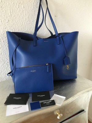 Original SAINT LAURENT Shopper blau wNeu 795€ YSL Rechnung Tasche