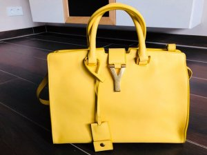 Original Saint Laurent Y Cabas Yellow Handtasche Authentic Luxus Rechnung