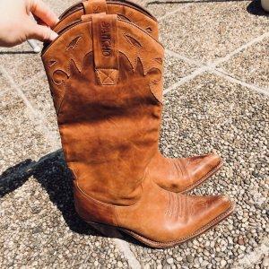 Original Sancho Western Boots Caramelbraun Handmade