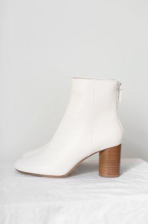 Original Sandro Paris Boots Stiefel Leder Gr. 38 weiß Neu und ungetragen