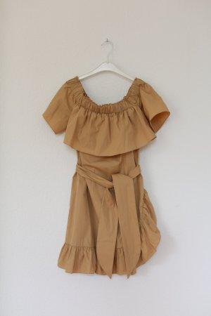 Original Sandro Paris Kleid Mini Dress Nude Vintage Look Gr. 38