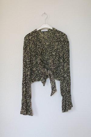 Original Sandro Paris Wickelbluse Bluse Blumen Vintage Look Gr. S/M