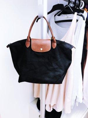 Original Schwarze Handtasche M von Longchamp