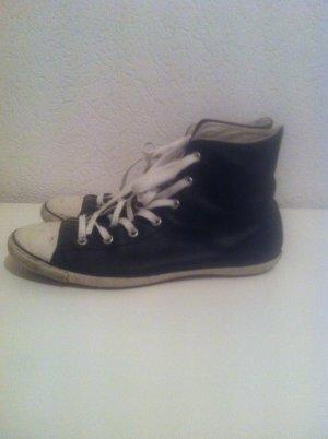 Original schwarze Leder Chucks