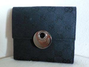 Gucci Portafogli nero-argento Pelle