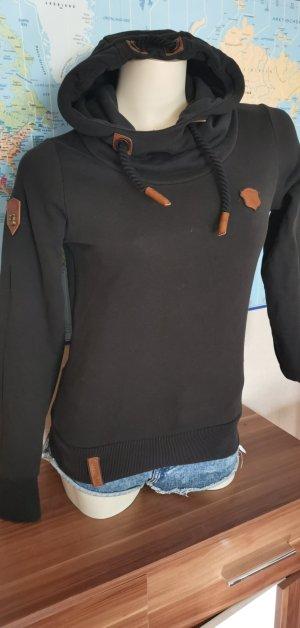 Naketano Maglione con cappuccio nero