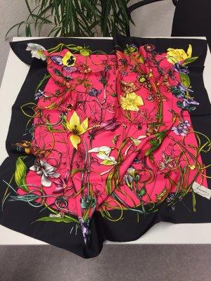 Original Seidentuch Gucci ca. 90 x 90 Flora Silke Printed Scarf. Neu!