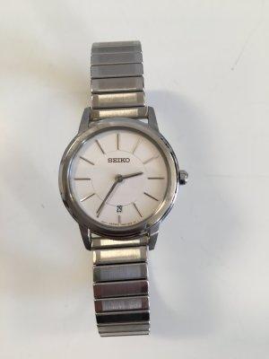 Original Seiko Edelstahl Damen Uhr clean chic Armbanduhr silber Damenuhr