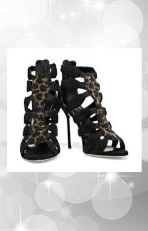 Original SERGIO ROSSI High Heels (NEU), 39, schwarz, Applikation, Designerschuhe