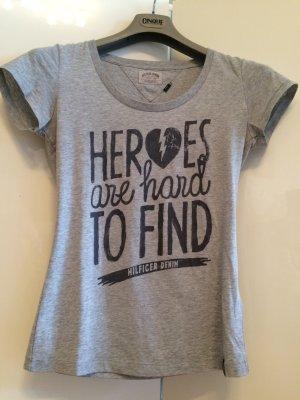 Original Shirt von Hilfiger Denim grau Größe M