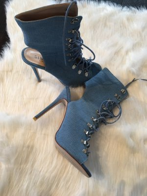ORIGINAL SIMMI LONDON JEANS LACE UP STILETTO HEELS NP 120,-
