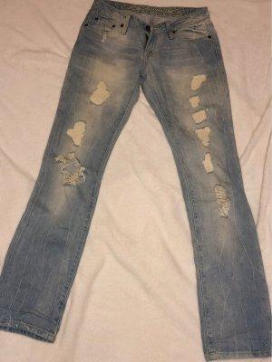 Soccx Lage taille broek azuur