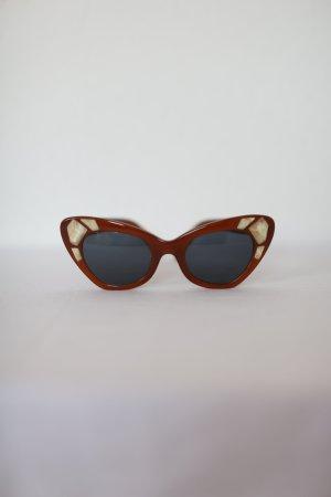 Original Sonnenbrille von Kaleos Eyehunters Braun mit Steinen Vintage Look selten