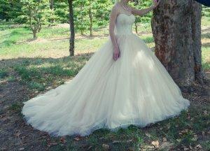 Vestido de novia multicolor tejido mezclado