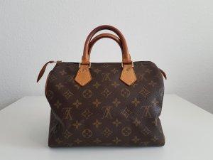 Louis Vuitton Carry Bag brown-gold-colored linen