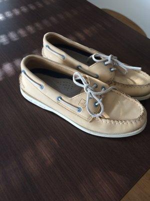 Original SPERRY Bootsschuhe/Segelschuhe beige Gr 37