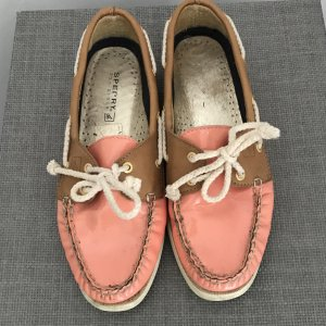 Sperry top-sider Zapatos de marinero marrón claro-salmón