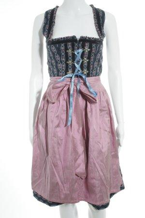 Original Steindl Vestido Dirndl estampado con diseño abstracto estilo country