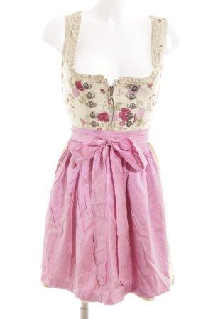 Original Steindl Dirndl roze-nude bloemenprint klassieke stijl