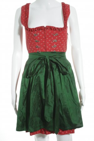 Original Steindl Dirndl rot-grün Country-Look