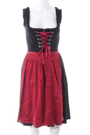 Original Steindl Dirndl red-black vintage look