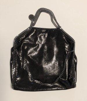 Stella McCartney Bolso barrel color plata-negro