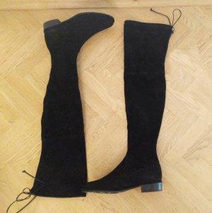 original Stuart Weitzman Lowland Suede Boots Stiefel Black Gr 39