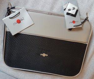 Sacoche d'ordinateur noir-argenté