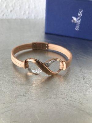 Original SWAROVSKI Armband Infinity Leder nude Rosé Neu 149€
