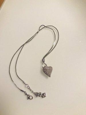 Original Swarovski Herz Halskette Silber