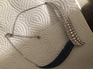 Swarovski Collier zilver-blauw