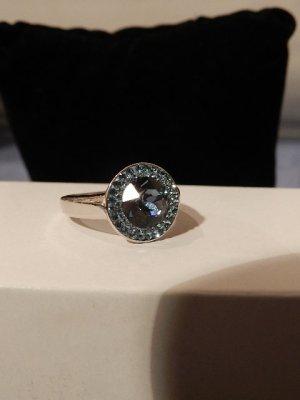 Original Swarovski Ring - mit blauem Kristall & weißen Zirkonen Gr.57 -neu OVP