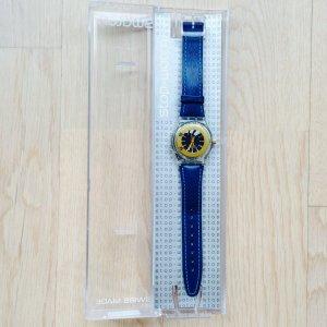 Original Swatch Stop-Watch, echtes Lederarmband