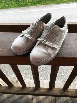 Original Tamaris Leder Schuh mit Perlmutt schimmer