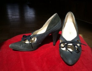 Original TED BAKER Mary Jane Pumps High Heels zum binden Gr. 36 UK3