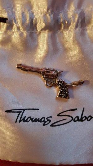 Original Thomas Sabo Anhänger Pistole Revolver Charm Silber in OVP