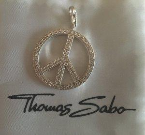 "Original Thomas Sabo Charm ""Peace"" mit Steinchen"