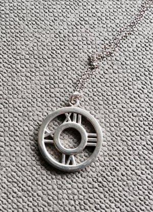 Original Tiffany & Co Atlas Circle Medaillon Halskette, 925 Silber, Vintage Modell