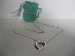 """Original Tiffany Kette """"offenes Herz"""" aus Silber ."""