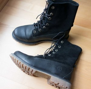 Original Timberland Fold Stiefel Boots Echtleder Anti-Fatigue Sohle schwarz Gr. 39 WIE NEU!