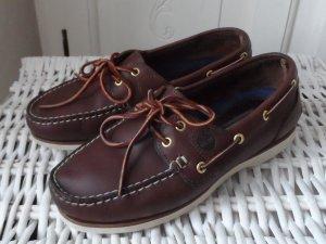 Timberland Sailing Shoes dark brown linen