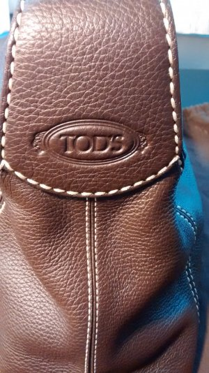 Tod's Bolsa de hombro marrón oscuro Cuero