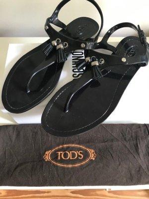 Tod's Sandalias de tacón con talón descubierto negro Material sintético