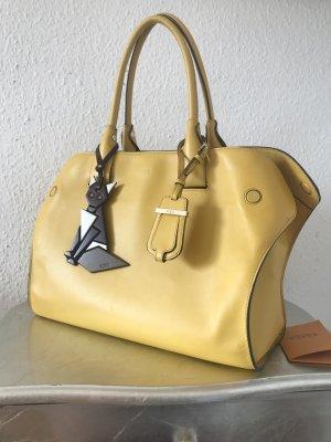 Original TODS Tod's Shopper Tasche gelb 2049€ Cape Wave mit Rechnung