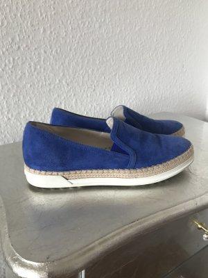 Original TODS Tod's Slipper Espadrilles 36 blau Wildleder 330€ Sneaker