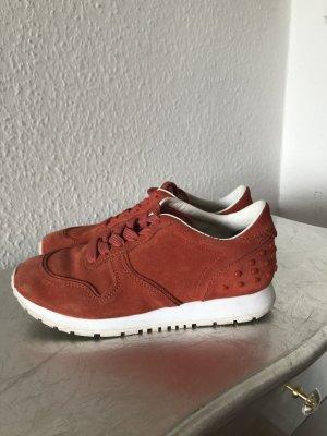 Original TODS Tod's Sneaker Turnschuhe 36 orange Nieten Wildleder 450€