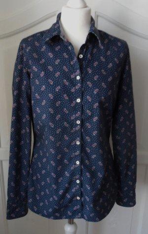 original Tommy Hilfiger Bluse Gr.10 (40) Dunkelblau mit Paisleymuster wenig getragen